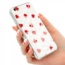 "ETUI GLASS DIAMONDS SERCA NA TELEFON  IPHONE 6 4.7"" BIAŁY"