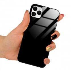 BLACK CASE GLASS P? TELEFON HUAWEI Y6 PRIME 2019 SORT